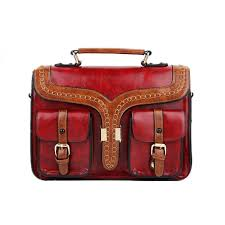 China London Antique <b>PU Leather Lady</b> Handbag <b>Retro</b> Satchel ...