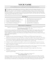 accounts payable resume sample job and resume template entry level accounts payable resume