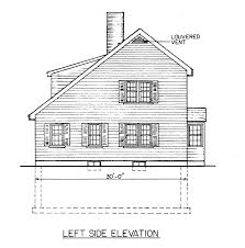 Free Saltbox House Plans   Saltbox House Floor PlansSaltbox House Blueprint