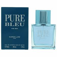 Authentic <b>Pure Bleu</b> Cologne By <b>Karen Low</b>, 3.4 oz Eau De Toilette ...