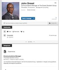 update your linkedin profile goodwin college of professional image of a linkedin profile