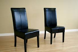 Black Leather Dining Room Chairs Dining Chair Black Leather High Back Dining Chairs