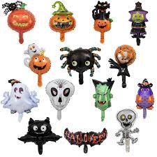 10pcs Mini <b>Halloween Balloons Spider</b> Skull Globos Halloween ...
