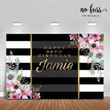 <b>Forty</b> and Fabulous <b>Backdrop</b> | Adults Party Banner | Poster ...