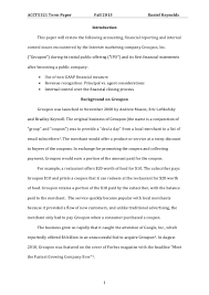 groupon term paper