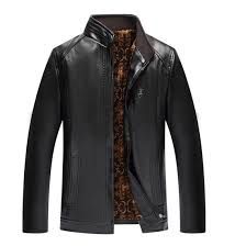 Leather Jacket <b>Men's</b> Clothing Spring and <b>Autumn Large Size</b> ...