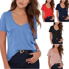 <b>High Quality S XXL Plain</b> T Shirt Women Cotton Elastic Basic Tshirt ...