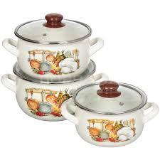<b>Набор эмалированной посуды</b> Interos Кухня 15156 (кастрюля 2.1 ...