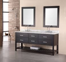 bathroom modern vanity designs double curvy set: long curvy trough bathroom sink with two faucets for open storage