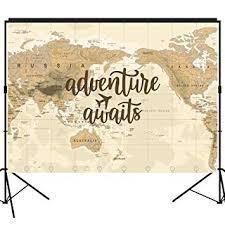Amazon.com: musykrafties <b>Adventure Awaits</b> Backdrop <b>Large</b> ...