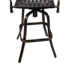 patio stool: outdoor cast aluminum swivel bar stool patio furniture antique copper design walmartcom