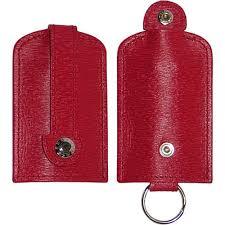 <b>Ключница</b> с кольцом на ремешке <b>Underwood</b>, кожа, красная