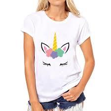 Aliexpress.com : Buy <b>Showtly Cute</b> unicorn women's t shirt casual ...
