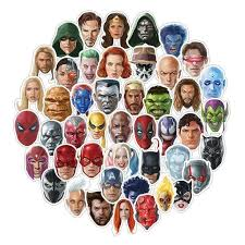 50 <b>Pcs</b>/<b>lot Super Hero</b> Aquaman Venom Facial Expression Stickers ...