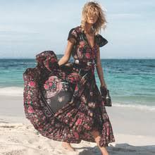 DeRuiLaDy 2019 New <b>Women Summer Boho</b> Beach Maxi Dress ...