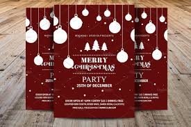 merry christmas party flyer flyer templates on creative market