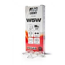 <b>Лампа AVS Vegas</b> 24V. <b>W5W</b> (W2,1x9,5d) BOX (10 шт.) оптом от ...