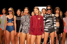 bikinis and ballgowns australian fashion week   a photo  this year was the st anniversary of australia fashion week and the first in which the event had moved from its traditional springsummer slot in april to