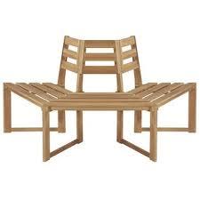 """Shop vidaXL <b>Tree Bench Half-hexagonal</b> 63"""" Solid Acacia Wood ..."""
