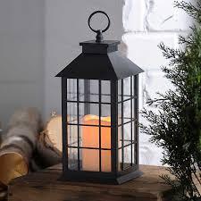 <b>Black</b> Lantern with <b>LED Candle</b> | Kirklands