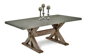 custom made patio table rustic chic dining table with concrete top chic dining room table