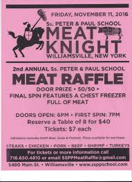 family folder saints peter paul meat raffle volunteer sign up