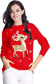 v28 Ugly Christmas Sweater for Women Vintage <b>Funny</b> Merry Tunic ...