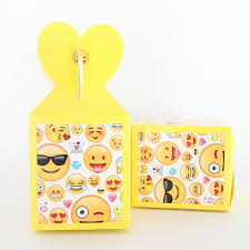 <b>6pcs</b>/lot Emoji Candy Box <b>Baby Shower Souvenirs</b> Gift Box Paper ...