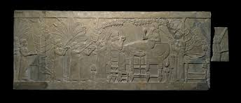 <b>The 'Garden Party</b>' relief from the North Palace of Ashurbanipal ...