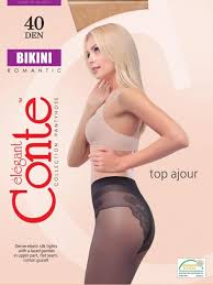 <b>Колготки Conte elegant</b>, <b>BIKINI</b>, 40 DEN, р-р 2, natural — купить в ...