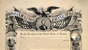 「1865, president lincaln signed document abolishing slavery」の画像検索結果
