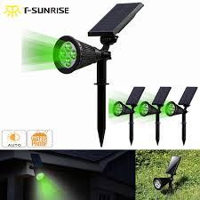 <b>T SUNRISE 4 Pack</b> Solar Powered Lamp IP65 Waterproof 4 LED ...