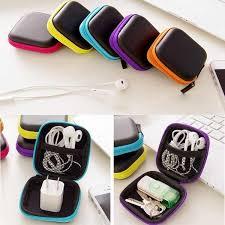 1 Pcs Mini Cute Portable Hard <b>Headphone</b> Case <b>Earbuds USB</b> ...