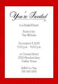christmas dinner invitation examples