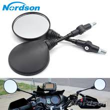 Custom <b>Black</b> Universal Folding <b>Motorcycle Mirror</b> motorbike Side ...