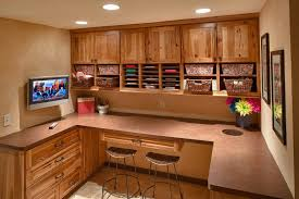 kitchen cabinets home office transitional: sensor trash can home office transitional with bar stools