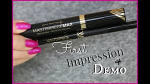 NEW <b>Max Factor</b> Mascara & Liquid Eyeliner | First Impression & Demo