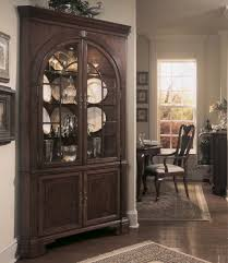 corner cabinets dining room: corner curio cabinet canada american drew cherry grove corner china cabinet in antique cherry to your