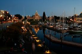 VICTORIA, BC - Victoria's Inner Harbour. (Photo by Deddeda Stemler). Photos by Tourism Victoria and Elizabeth Griffin. This weekend away was courtesy of ... - 1BC-Inner-Harbour-at-night