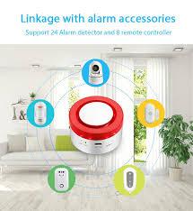 Lonsonho <b>Wifi Smart Alarm Systems</b> Security Wireless Home House ...