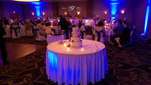 i also placed uplighting under the head table skirting and the cake table skirting as well to enhance the effect beautiful color table uplighting