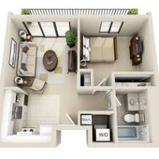 One bedroom  Floor plans and House plans on Pinterest D Floor Plan image for the Bedroom Studio Floor Plan of Property Viewpointe