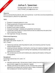 following is a medical receptionist  lt a href  quot http   cv tcdhalls    medical office receptionist resume sample – best format