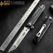 WIND Self defense military knife, D2 steel blade <b>bearing folding</b> ...
