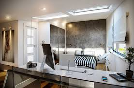awesome black and white home office bedroom ideas with natural ceiling light design and awesome black white office design