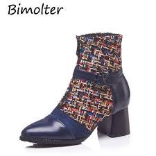 <b>Bimolter</b> 2018 Winter Front Zipper <b>Women</b> Martin Boots Costume ...