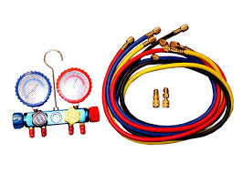 4 Way Manifold w/Snap Couplers <b>R410a</b>, R12, <b>R22</b>, <b>R134a</b> #1002 ...
