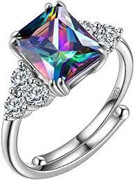 Aurora Tears Mystic-Topaz Ring <b>Jewelry 925</b> Sterling Silver <b>Women</b> ...