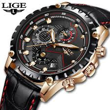 Relogio Masculino LIGE <b>Mens Watches Top Brand</b> Luxury Quartz ...