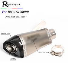 60MM Inlet Motorcycle For BMW <b>S1000RR</b> Carbon Fiber <b>Exhaust</b> ...
